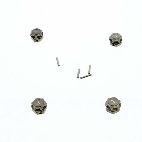 Team Losi 8IGHT-E 4.0 Buggy 1/8: Hard Anodized Hex Hubs & Wheel Nuts, Drive Pins -