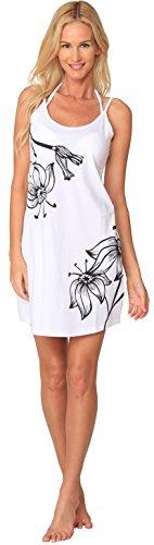White Batik Floral Dress - 3