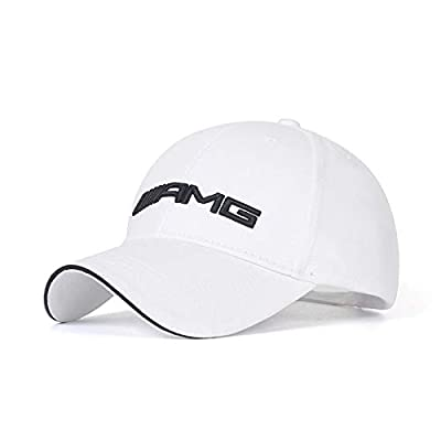 Wall Stickz BearFire Logo Embroidered White Color Adjustable Baseball Caps for Men and Women Hat Travel Cap Racing Motor Hat (fit amg): Automotive