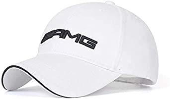 Westion Logo Embroidered White Color Adjustable Baseball Caps for Men and Women Hat Travel Cap Car Racing Motor Hat