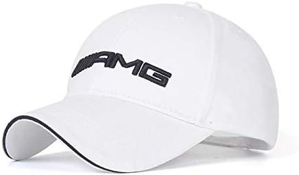 Fit AMG Funsport White Baseball Hat Adjustable Car Logo Cap,Unisex Hat Travel Cap Car Racing Motor Cap for Car Accesssories