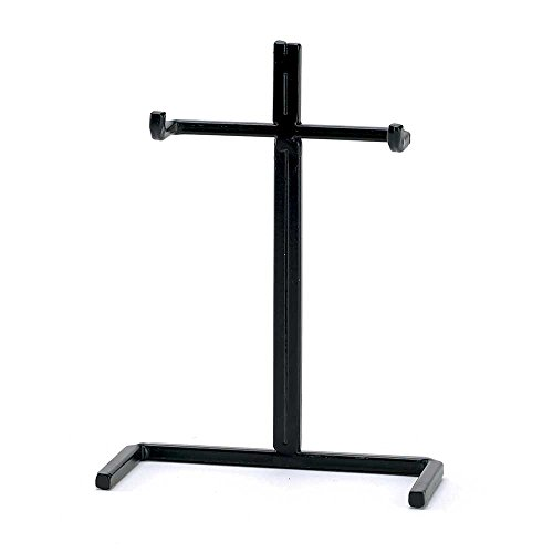 - Sturdy and Durable Black 4.5 x 6.5 Metal Tabletop Cross Easel Display Stand