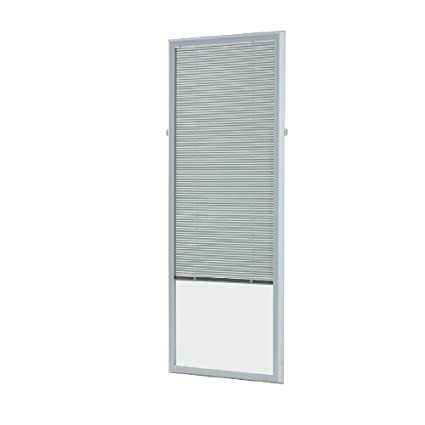 20 In X 64 In Add On Enclosed Aluminum Blinds In White For Steel