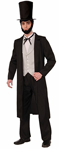 Lincoln Costumes (Forum Novelties Men's Abraham Lincoln Xl Deluxe Costume, Black, X-Large)