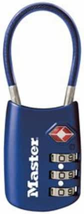 Master Lock 4688D TSA Accepted Cable Luggage Lock, Color May Vary