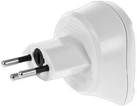 Adaptador de corriente enchufe Schuko/suiza, 2-y 3-Pol, colour blanco, de corriente internacional: Amazon.es: Informática