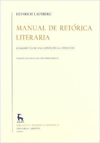 Amazon. Com: manual de retorica/ manual of rhetoric (spanish.