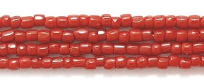 Cut Seed Glass Beads (Preciosa Ornela Czech 3-Cut Style Seed Glass Bead, 12/0-Size, Opaque Dark Red)