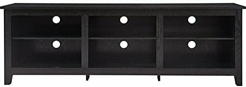"""Manufactured Wood 70"""" TV Stand Black Tv Stand Farmhouse Tv Mount Television Stands Tv Stands Tv Table Apartment Essentials Living Room Furniture Tv & Media Furniture Modern Farmhouse"""