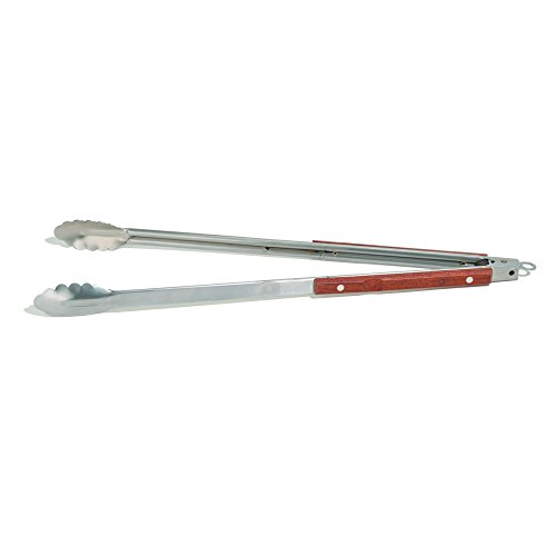 (Outset QB22 Rosewood Collection Extra-Long Locking Tongs, 22