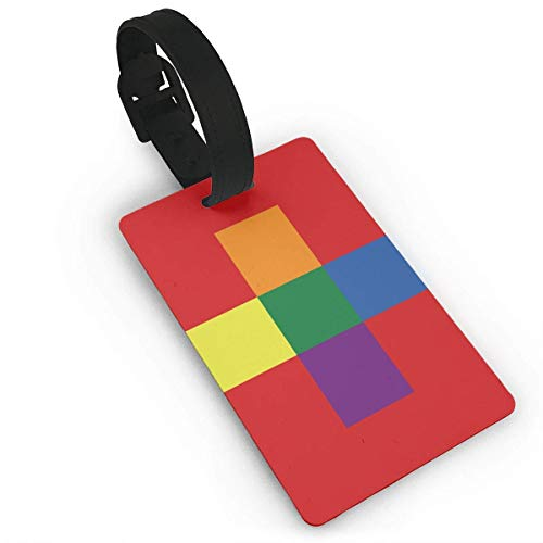 Switzerland Gay Flag Luggage Tags Travel Suitcase Labels Thick Bag Tag Business Card Holder with Adjustable Strap