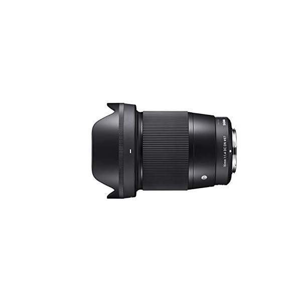 RetinaPix Sigma 16mm f/1.4 DC DN Contemporary Lens for Canon EF-M Mount (402971), Black