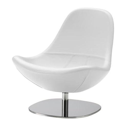 Sessel ikea weiß  IKEA TIRUP Drehsessel in weiß; aus Leder: Amazon.de: Küche & Haushalt