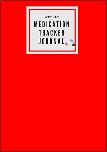 weekly medication tracker journal red medicine reminder log