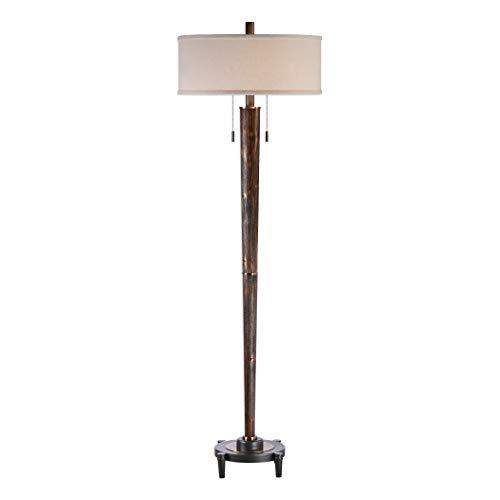 (Uttermost Rhett Burnished Oak 2-Light Hardwood Floor Lamp)
