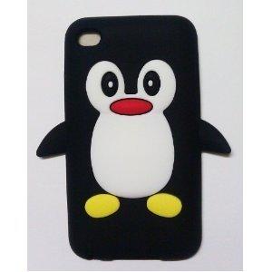 Bundle Accessory for Apple Ipod Touch 5 - Black Penguin Silicon Skin Soft Case Protector Cover + Lf Stylus Pen + Lf Screen Wiper