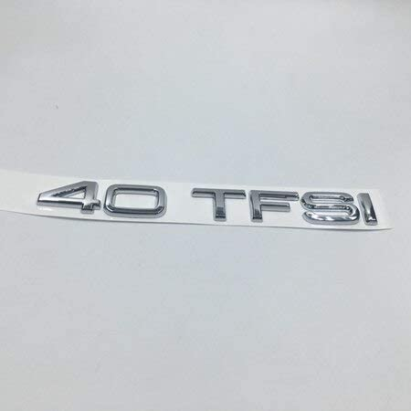 Cafoucs Chrome ABS 30 35 40 45 50 TFSI Emblem Badge Decal for Audi RS A1 A3 A4 A7 S4 S5 S6 S8 S7 quattro - (Color Name: 40 TFSI): Amazon.com.au: Home Improvement