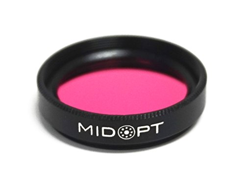 MidOpt Light Red Bandpass Filter for Machine Vision, BP Series, Broad Bandwidth, BP635-27, Fits M27 Lens Filter Thread by MidOpt