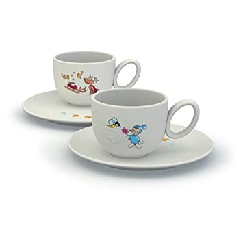 Alessi Storie A Colazione Niki E Gli Amici Cups with Saucers Set by Miriam Mirri