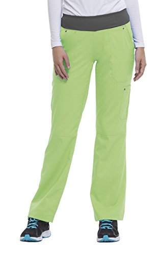 Lime Zest (Purple Label Yoga Women's Tori 9133 5 Pocket Knit Waist Pant by Healing Hands- Lime Zest- X-Large Petite)