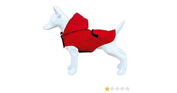 Freedog FD5000944 - Impermeable Plegable Bolsillo, para Perro, Color Rojo: Amazon.es: Productos para mascotas