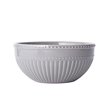 Mikasa Italian Countryside Accents Soup/Cereal Bowl, Fluted Grey