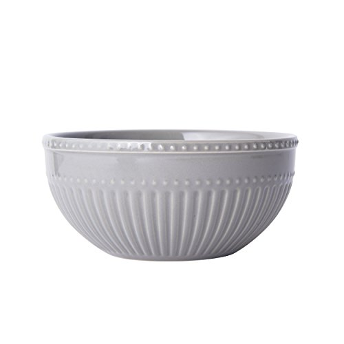 Mikasa Italian Countryside Accents Soup/Cereal Bowl, Fluted Grey ()
