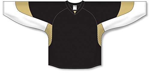 - 2010 Pittsburgh Black Gussets Pro Plain Blank Hockey Jerseys