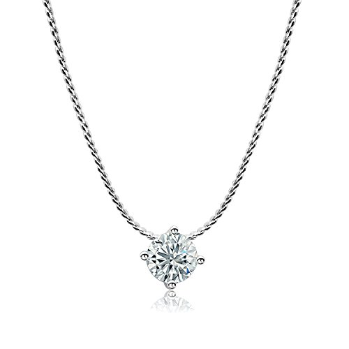 - CIShop Conquerers' flame Solitaire Pendant Necklace with Simulated Diamond 18k Gold-plated Chain Necklace for Women Bridesmaid 18