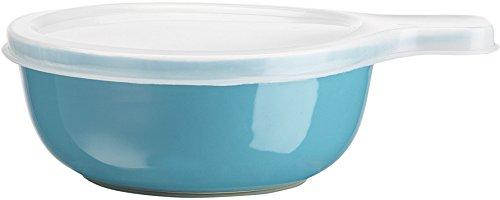 Home Essentials & Beyond Home Essentials Storage Essentials 16 oz Round Baker with Handle & Lid, Aqua, , Clear