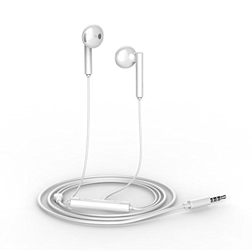 Price comparison product image TIYA Huawei Earphones Honor Headphones AM118 for Huawei P7 P8 P9 P10 Pro Plus Mate7 Mate8 Mate9 Mate10 Pro Nova 2 Plus honor 6 7 8 9 6X 7x 5x 6s lite White Earbuds (AM118)