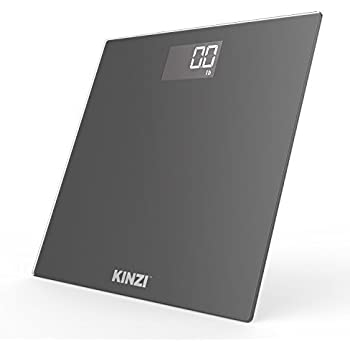 "Kinzi New Precision Digital Bathroom Scale w/ Extra Large Lighted Display and ""Step-On"" Technology [2017 New Version]"