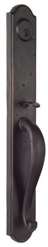 Weslock 7985 Rockford Dummy Entry Handleset From The Molten Bronze Collection  Oil Rubbed Bronze
