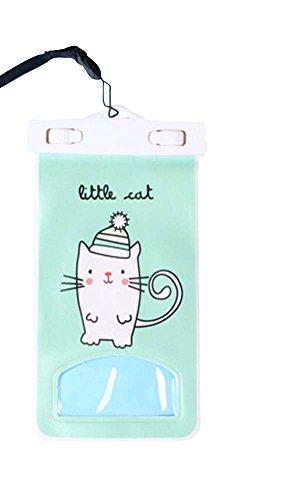 Kleine Katze, 2 PC-Touch-Screen-Wasserdichte Taschen / Handytaschen