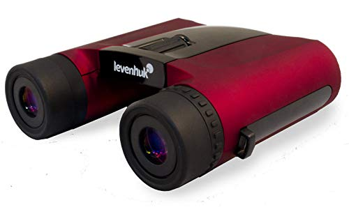 Levenhuk Rainbow 8x25 Red Berry Binoculars for Traveling, Hiking, Bird Watching, Theater and Sport Events, Ideal for Kids and Adults (Ultra Lightweight - 9.88 -