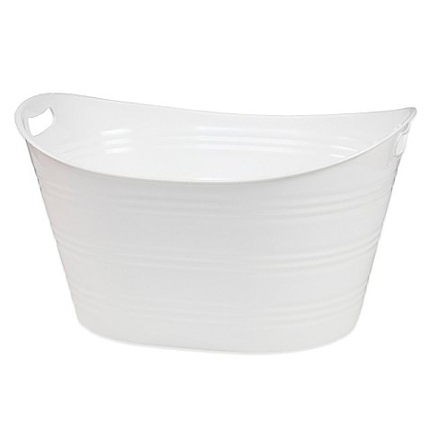 Creative BathTM Storage Tub in White]()