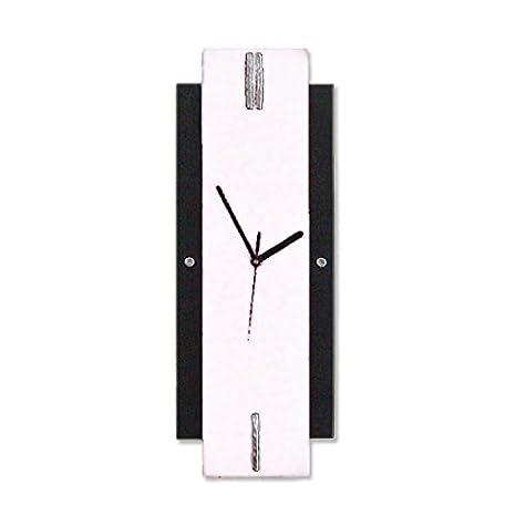 Reloj de Pared Vertical, Color Negro / Blanco. Diseño moderno. Fabricación artesanal en España: Amazon.es: Hogar