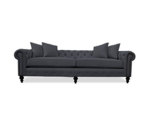 South Cone Home Nuremberg Tufted Sofa, 103″, Charcoal