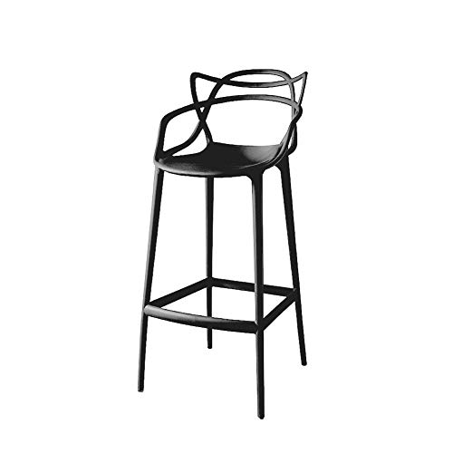 Barstool for Kitchen Pub Counter Chairs High Stools Outdoor and Indoor 5 Colours Available-Black