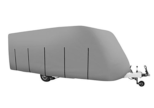 ABI Brooklyn 600 /4 EB 2000 Water Resistant Breathable Caravan Cover 4Ply Grey Wing Mirrors World