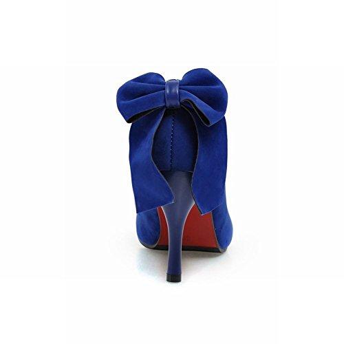 Bedel Voet Mode Strikjes Dames Hoge Hak Pumps Damesschoenen Donkerblauw