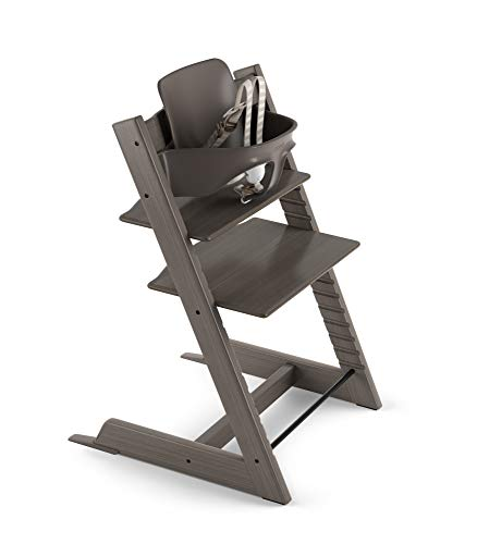 Stokke 2019 Tripp Trapp High Chair, Includes Baby Set, Hazy Grey
