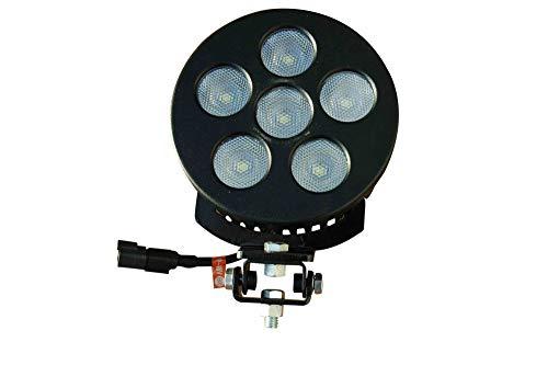 Larson Electronics 1830L-WHT-FL-3000K 60W LED Equipment Light 5400 lm - Adjustable Trunnion Mount - Milspec Compliant (White-Flood-3000K)