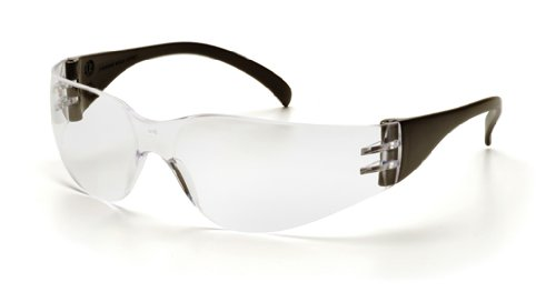 Pyramex Safety Intruder Eyewear, Black Temples, Clear Lens, Outdoor Stuffs