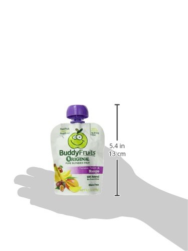 Buddy Fruits Mango / Passion Fruit / Banana, Pure Blended Fruit To Go, 3.2-Ounce (Pack of 18) by Buddy Fruits (Image #6)