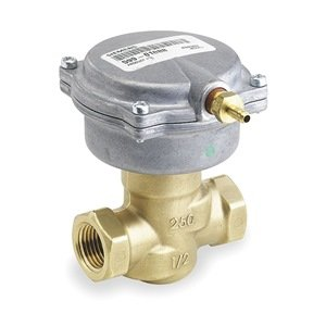 Siemens Building Technologies 25702038 Valve Assembly 2-Way NO Eq Pct 1/2 In FxF 25 Cv 3-8 psi SR Pneumatic