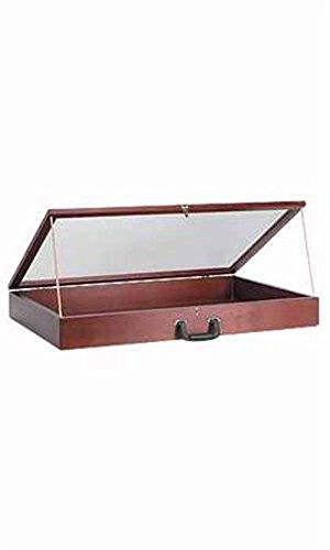 Portable 36'' Wood Countertop Display Cases - Velvet Cherry 24''w X 36''l X 4''d by Jewelry Box