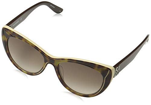 Karl Lagerfeld Women's Oval Sunglasses, Tortoise, 55 mm