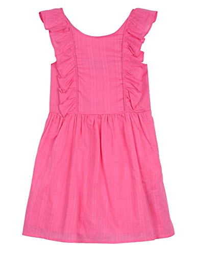 Nautica Girls' Patterned Sleeveless Dress plaid medium pink 4T ()