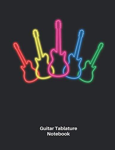 Nice Day Sheet Music - Guitar Tab Notebook: Neon Electric Guitar Sheet Music Blank Notebook - Great Accessories & Gift Idea for Guitarists, Guitar Teacher & Students.